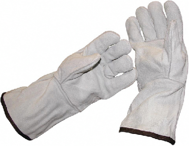 LONG CUFF LEATHER SAFETY GLOVES (#315-DS009) - Click Here to See Product Details
