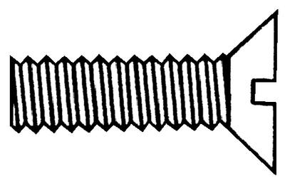 SLOTTED MACHINE SCREWS - FLAT HEAD (#4-0522) - Click Here to See Product Details
