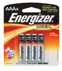 ENERGIZER ALKALINE BATTERIES (#333-E92BP4) - Click Here to See Product Details