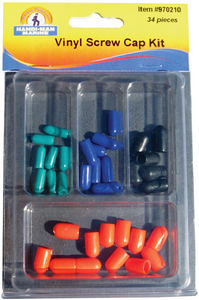 ASSORTED 34 PIECE VINYL SCREW CAP KIT  (#8-970210) - Click Here to See Product Details