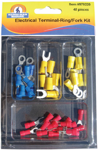 ASSORTED 40 PIECE ELECTRICAL TERMINAL KIT (#8-970220) - Click Here to See Product Details