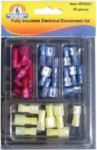 ASSORTED 30 PIECE ELECTRICAL DISCONNECT KIT (#8-970221) - Click Here to See Product Details