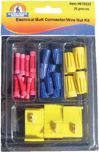 ASSORTED 25 PIECE BUTT CONNECTORS / WIRE NUTS KIT (#8-970222) - Click Here to See Product Details