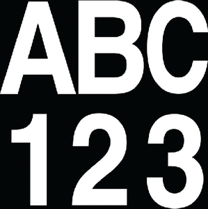 """INDIVIDUAL GOTHIC FONT 3"""" BOAT LETTERS & NUMBERS (#328-17369)"""