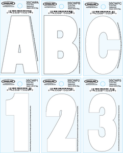 DYER<sup>®</sup> FONT INDIVIDUAL LETTERS & NUMBERS (#328-3SCWPY) - Click Here to See Product Details