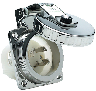 30 AMP SHORE POWER INLET (#36-HBL303SS) - Click Here to See Product Details