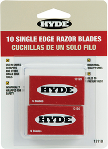 SINGLE EDGE RAZOR BLADES (#292-13110) - Click Here to See Product Details