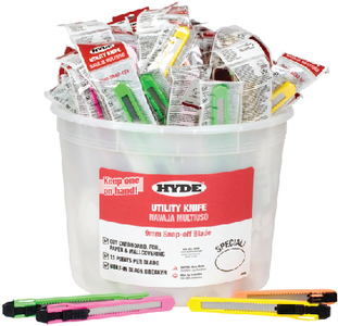 PAIL OF UTILITY KNIVES (#292-49697) - Click Here to See Product Details