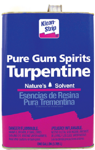 TURPENTINE GUM SPIRITS - Click Here to See Product Details