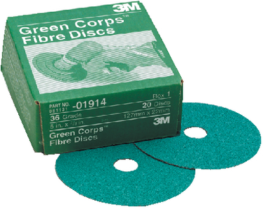 GREEN CORPS FIBRE DISCS (#71-01913) - Click Here to See Product Details