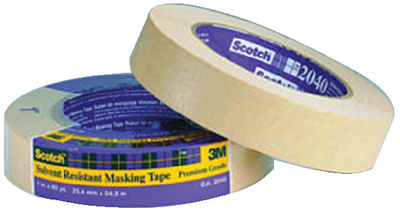 SCOTCH<sup>&reg;</sup> SOLVENT RESISTANT MASKING TAPE - #2040 (#71-04365) - Click Here to See Product Details