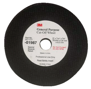 GENERAL PURPOSE CUT-OFF WHEEL (#71-1987) - Click Here to See Product Details