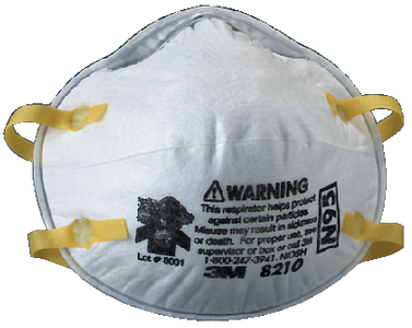 PARTICULATE RESPIRATOR 8210, N95  (#71-8210N95) - Click Here to See Product Details