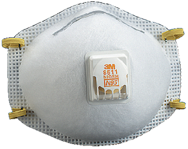 PARTICULATE RESPIRATOR 8511, N95 (#71-8511) - Click Here to See Product Details