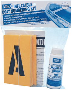 INFLATABLE BOAT NUMBERING KIT (#79-MDR782B) - Click Here to See Product Details