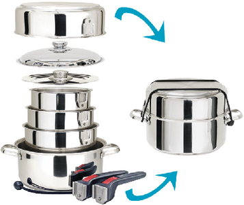 GOURMET NESTING COOKWARE (#214-A10360L) - Click Here to See Product Details
