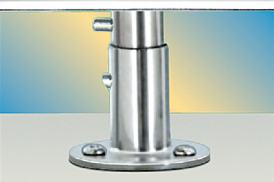 SINGLE LOCKING DECK SOCKET MOUNT - STANDARD DUTY  (#214-T10321) - Click Here to See Product Details