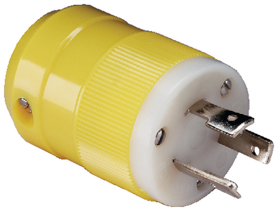 20 AMP LOCKING CONNECTOR AND PLUG (#69-205CRPN) - Click Here to See Product Details