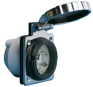 STAINLESS STEEL POWER INLET (#69-303SSELB) - Click Here to See Product Details