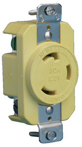 BOAT END 30A LOCKING RECEPTACLE (#69-305CRR) - Click Here to See Product Details