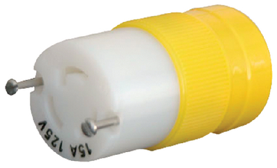 15A, 125V LOCKING PLUG & CONNECTOR (#69-4731CR) - Click Here to See Product Details