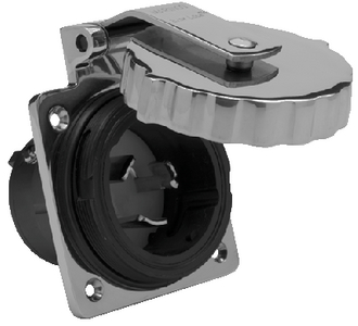STAINLESS STEEL POWER INLET (#69-6371EL) - Click Here to See Product Details
