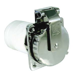 STAINLESS STEEL POWER INLET (#69-6373ELB) - Click Here to See Product Details