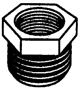 PLASTIC HEX BUSHINGS (#38-28664W) - Click Here to See Product Details