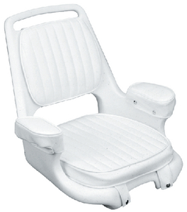 EXTRA-WIDE OFFSHORE HELMSMAN CHAIR & CUSHION SET (#114-CU10802D) - Click Here to See Product Details