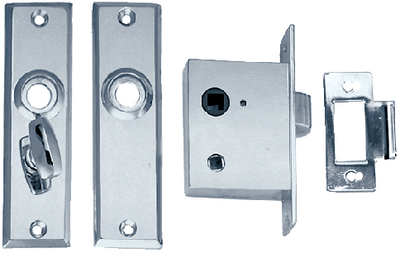 MORTISE LATCH SET (#9-0960DP0CHR) - Click Here to See Product Details
