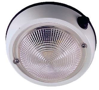 EXTERIOR SURFACE MOUNT DOME LIGHT (#9-1253DP1WHT) - Click Here to See Product Details