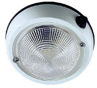 EXTERIOR SURFACE MOUNT DOME LIGHT (#9-1253DP2WHT) - Click Here to See Product Details