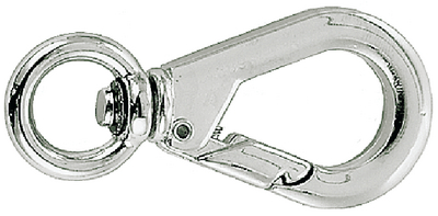 SWIVEL EYE SNAP - CHROME ZINC (#9-1289DP0CHR) - Click Here to See Product Details