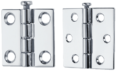 BUTT HINGES - REMOVABLE PIN (#9-1293DP4CHR) - Click Here to See Product Details