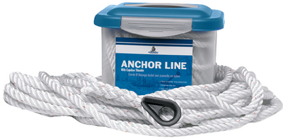 PRO-SET PREMIUM 3-STRAND TWISTED NYLON ANCHOR LINE (#83-603040025093) - Click Here to See Product Details