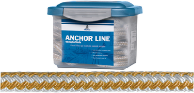 GOLD-N-BRAID NYLON ANCHOR LINE (#83-611032320083) - Click Here to See Product Details