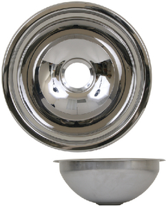 STAINLESS STEEL BASINS - MIRROR FINISH (#390-10203) - Click Here to See Product Details