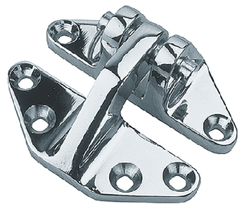 CHROME BRASS HATCH HINGE (#354-2042801) - Click Here to See Product Details