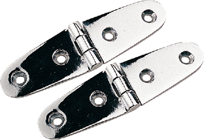 CHROME BRASS STRAP HINGE (#354-2043901) - Click Here to See Product Details