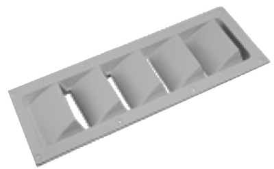 SLOTTED FIVE LOUVERED VENTILATOR (#354-337290) - Click Here to See Product Details