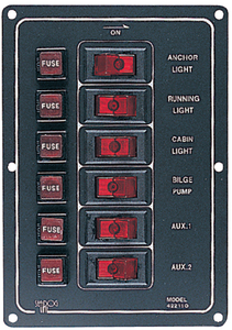 ALUMINUM SWITCH PANEL (#354-4221101) - Click Here to See Product Details