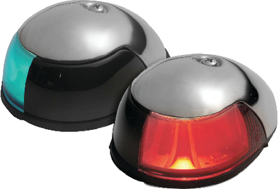 STAINLESS STEEL DECK MOUNT SIDE LIGHT (#23-3820PF1) - Click Here to See Product Details