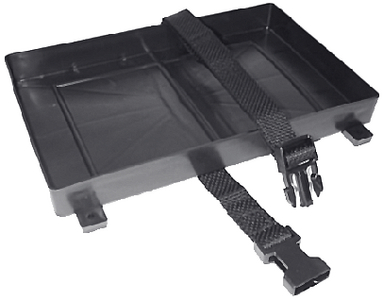 BATTERY TRAY WITH HOLD DOWN STRAP  (#50-22011) - Click Here to See Product Details