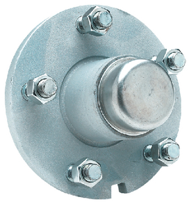 GALVANIZED TRAILER WHEEL HUB  (#50-53061) - Click Here to See Product Details