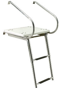 DELUXE UNIVERSAL SWIM PLATFORM<BR>WITH SLIDE MOUNT TELESCOPING LADDER (#50-71191) - Click Here to See Product Details
