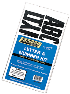 LETTER & NUMBER KIT (#50-77111) - Click Here to See Product Details
