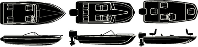STERLING SERIES V-HULL&#44; TRI-HULL RUNABOUTS<BR>& ALUMINUM BASS BOAT - BOAT COVER (#50-97321) - Click Here to See Product Details
