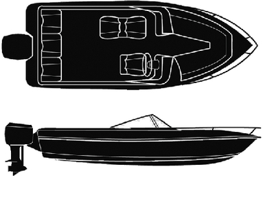 SEMI-CUSTOM V-HULL RUNABOUT O/B - BOAT COVER  (#50-97421) - Click Here to See Product Details
