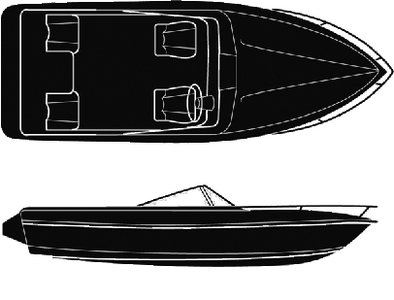 SEMI-CUSTOM V-HULL RUNABOUT I/O - BOAT COVER (#50-97541) - Click Here to See Product Details