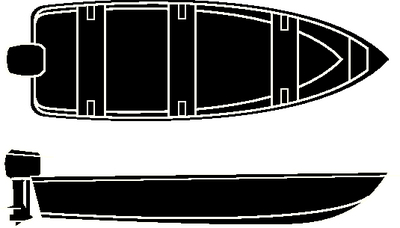 SEMI-CUSTOM V-HULL FISHING/WIDE SERIES - BOAT COVER (#50-97641) - Click Here to See Product Details